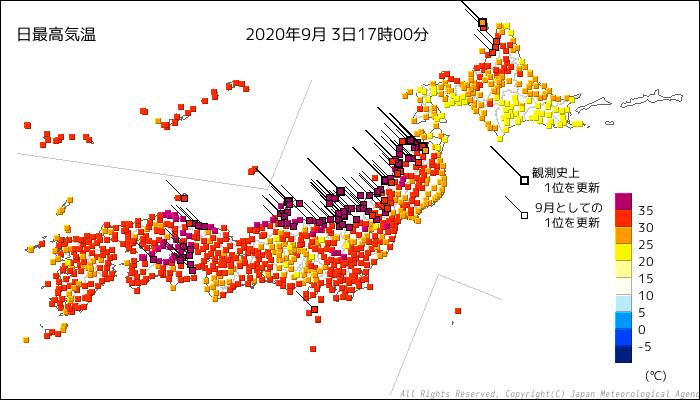 暑いぞ,新潟! 9月の40度超えが2地点,全国ランキング10以内に8地点_d0006690_17563961.png