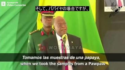 驚愕!パパイヤでもPCR陽性タンザニア大統領(科学者)とは! #797_b0225081_15231234.jpg