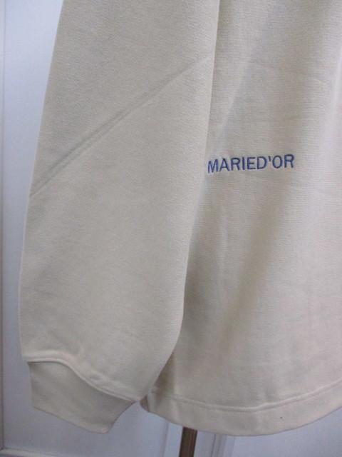 MARIED\'OR マリードール MARIED\'OR / 裏毛ヨコ使い刺繍入りロングハイネックプルオーバー_e0076692_18220725.jpg
