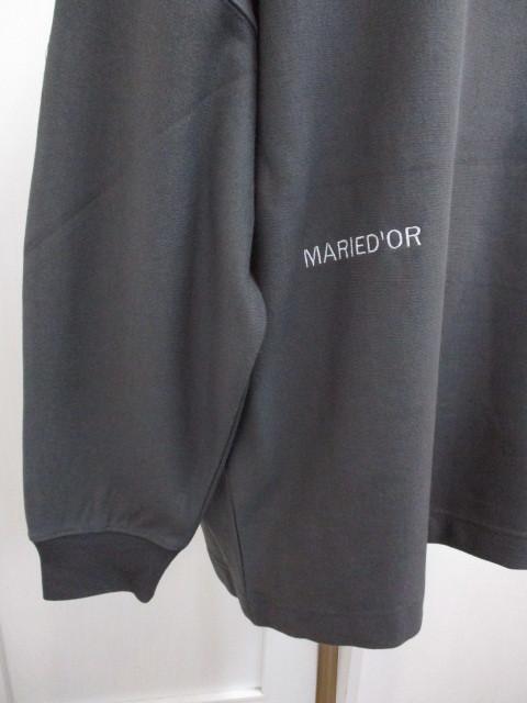 MARIED\'OR マリードール MARIED\'OR / 裏毛ヨコ使い刺繍入りロングハイネックプルオーバー_e0076692_18230980.jpg
