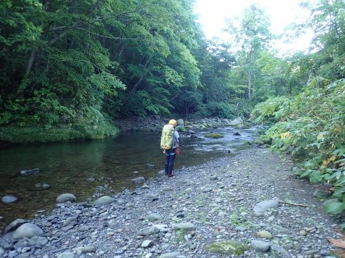 夏の終わりに余別川で沢登り_d0198793_00313611.jpg