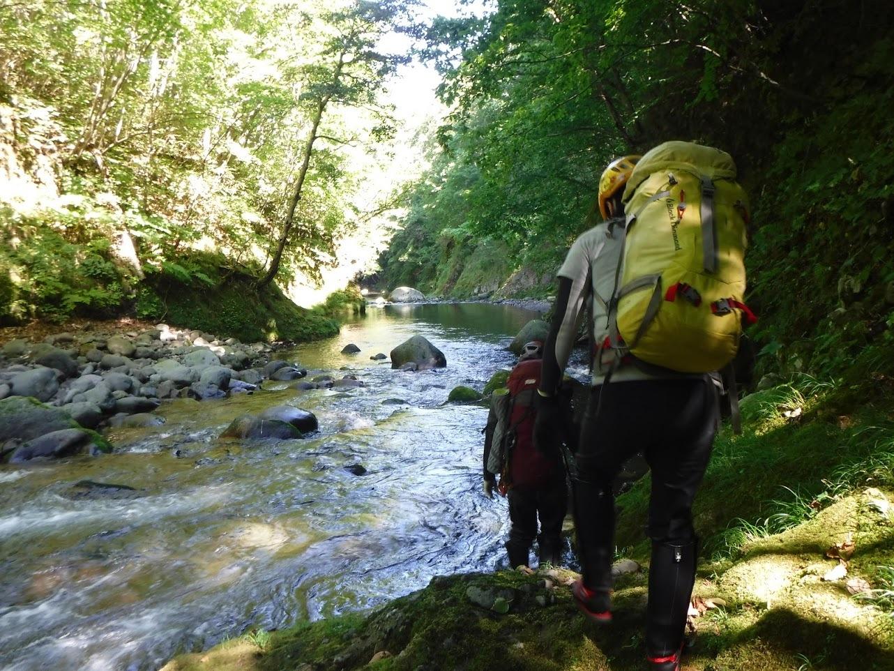 夏の終わりに余別川で沢登り_d0198793_08452947.jpg