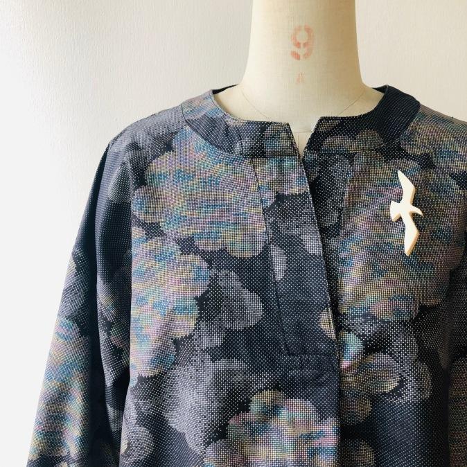 着物リメイク・大島紬からワンピース_d0127925_11153377.jpg