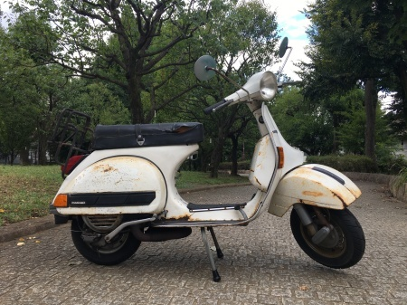 1980年 Piaggio Vespa P200E  白 17,000km_f0123137_15333686.jpg