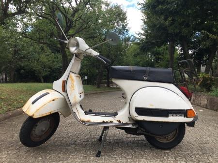 1980年 Piaggio Vespa P200E  白 17,000km_f0123137_15342409.jpg
