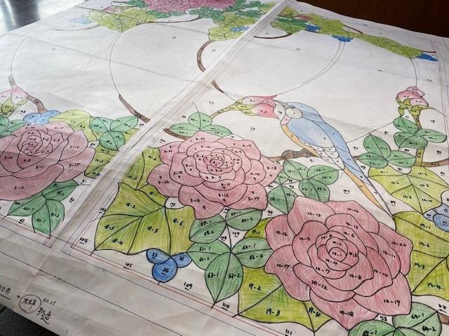 薔薇のパネル デザイン画完成_a0278866_11302475.jpeg