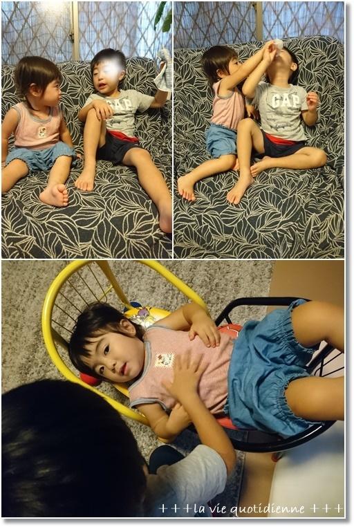 【からすのパン屋さん】チューチューパンタワー(笑)と姫とダンナさんの赤ちゃんごっこ_a0348473_16185654.jpg
