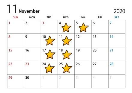 9月・10月・11月・12月 店休日のお知らせ♪_c0150233_09293964.jpg