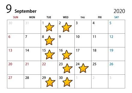 9月・10月・11月・12月 店休日のお知らせ♪_c0150233_09403390.jpg