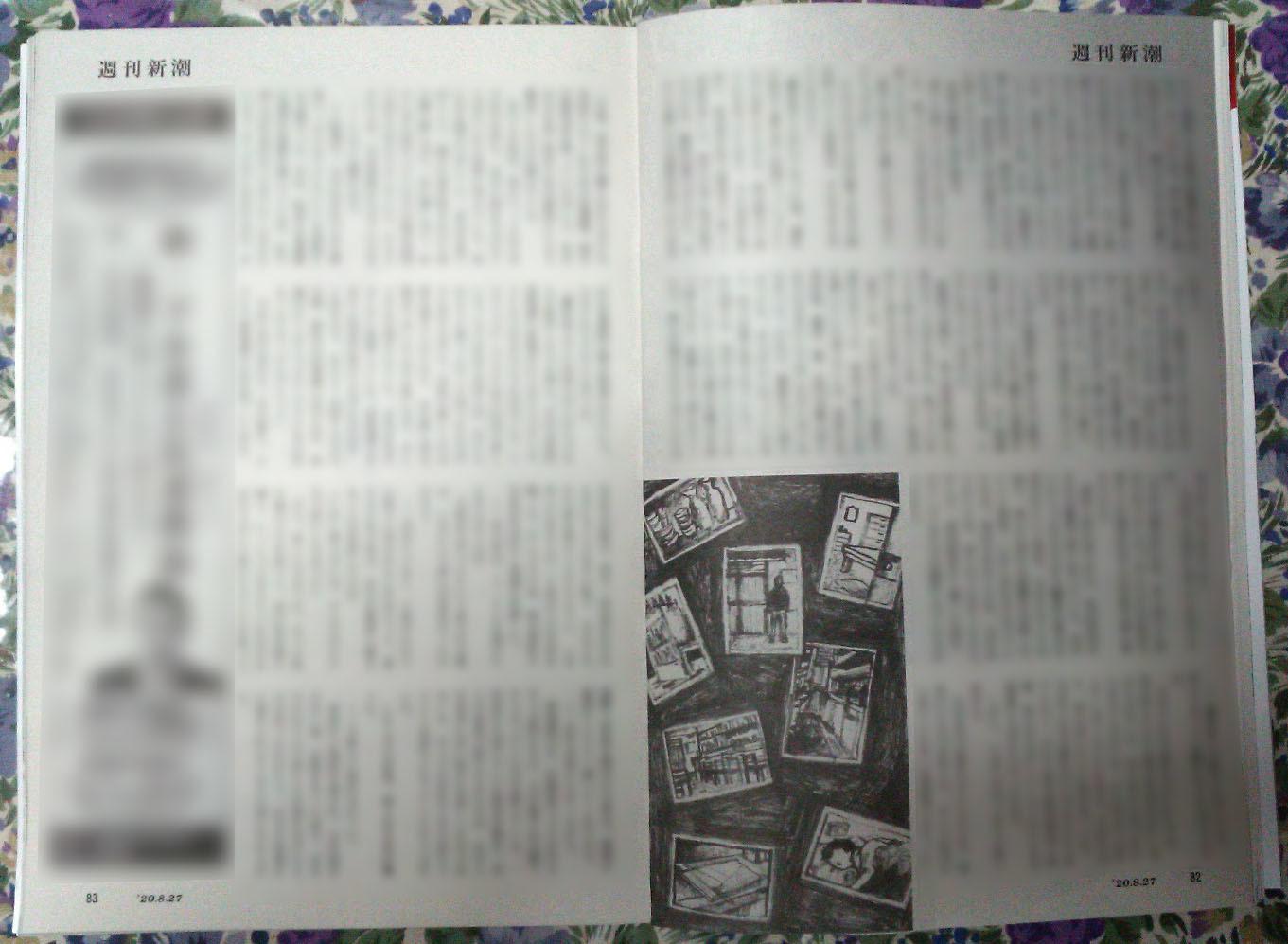 週刊新潮「雷神」挿絵 第32回〜34回_b0136144_16154117.jpg