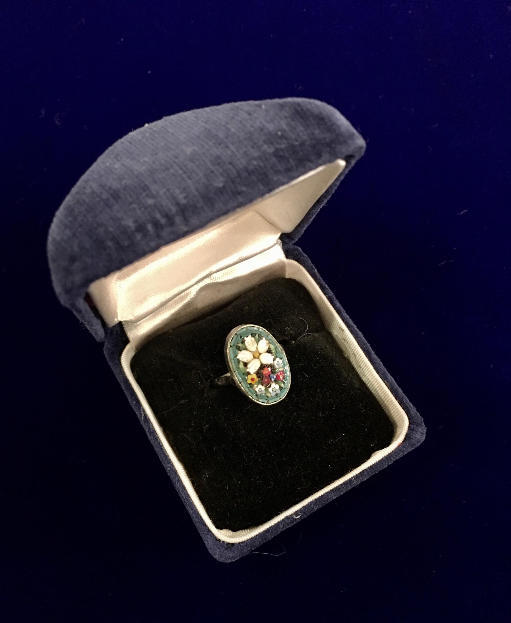 ローマンモザイクの指輪_f0196455_16081164.jpeg