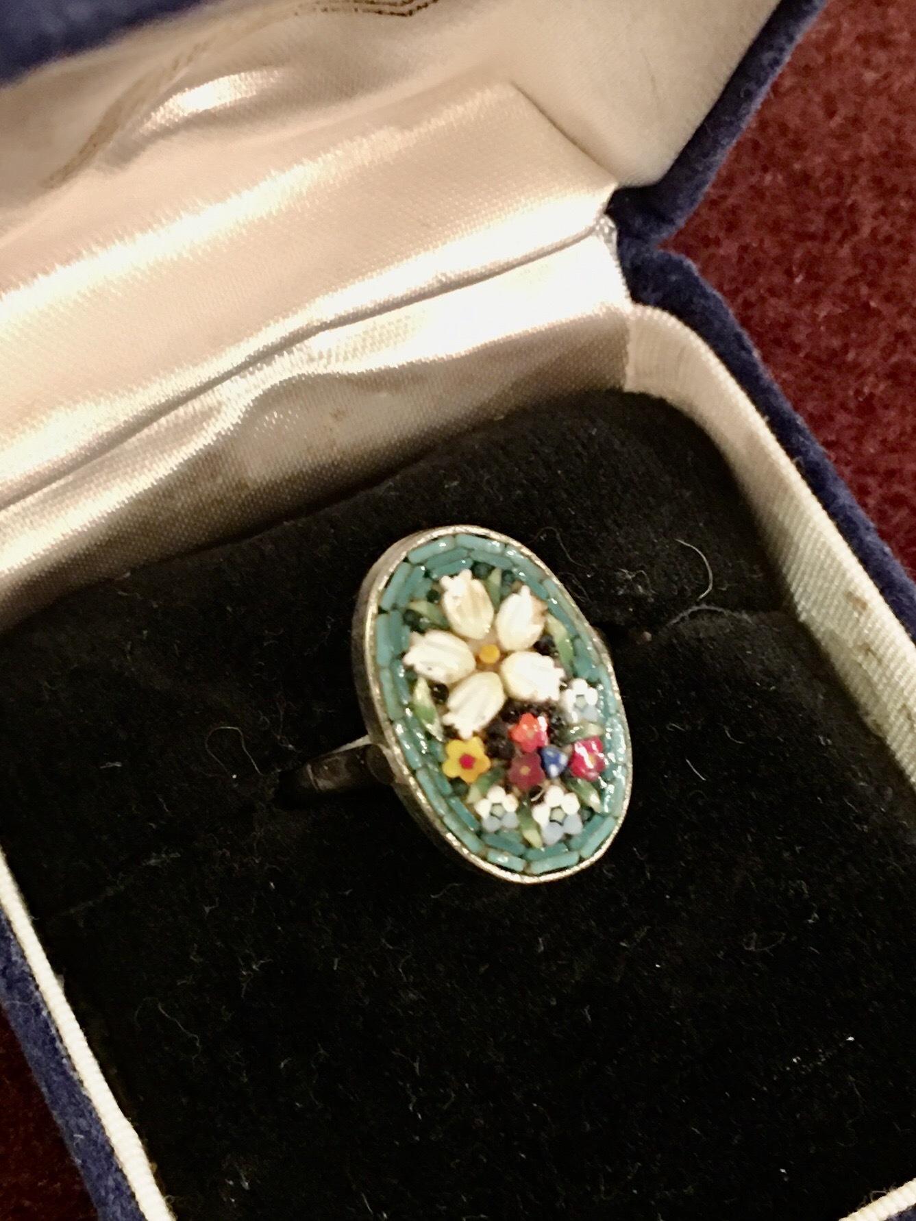 ローマンモザイクの指輪_f0196455_16084703.jpeg