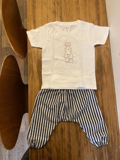 土偶Tシャツとベビーのサルエルパンツも売ってます 11/7まで_e0269428_08204501.jpeg