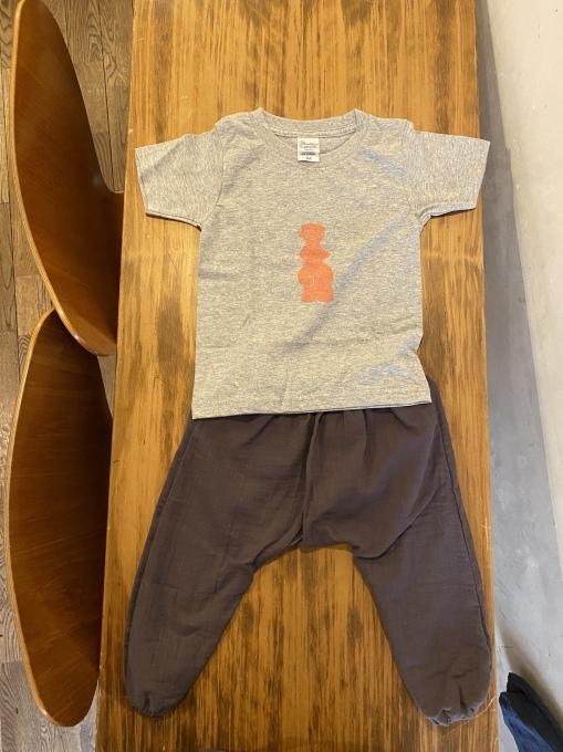 土偶Tシャツとベビーのサルエルパンツも売ってます 11/7まで_e0269428_08222203.jpeg