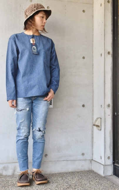 DENIM HENRY SHIRTS  By Kato 再_d0152280_06130610.jpg
