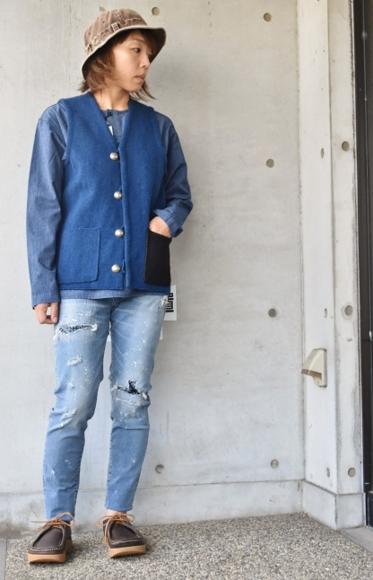DENIM HENRY SHIRTS  By Kato 再_d0152280_06151799.jpg