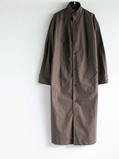 THE HINOKI Stand Up Collar Shirt Dress - Cotton Parachute Cloth_b0139281_19232277.jpg