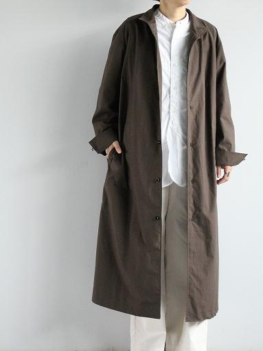 THE HINOKI Stand Up Collar Shirt Dress - Cotton Parachute Cloth_b0139281_19233166.jpg