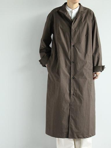 THE HINOKI Stand Up Collar Shirt Dress - Cotton Parachute Cloth_b0139281_19234267.jpg