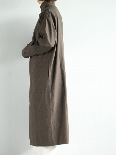 THE HINOKI Stand Up Collar Shirt Dress - Cotton Parachute Cloth_b0139281_19242367.jpg