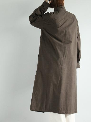 THE HINOKI Stand Up Collar Shirt Dress - Cotton Parachute Cloth_b0139281_19243134.jpg