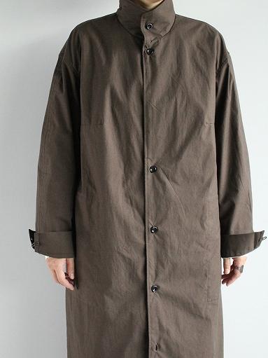 THE HINOKI Stand Up Collar Shirt Dress - Cotton Parachute Cloth_b0139281_19244255.jpg