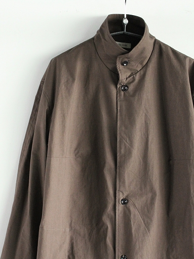 THE HINOKI Stand Up Collar Shirt Dress - Cotton Parachute Cloth_b0139281_1924539.jpg