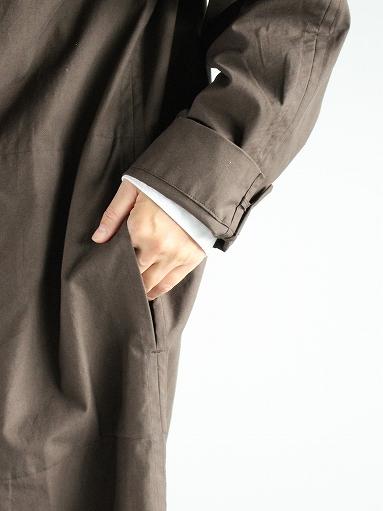 THE HINOKI Stand Up Collar Shirt Dress - Cotton Parachute Cloth_b0139281_19245996.jpg