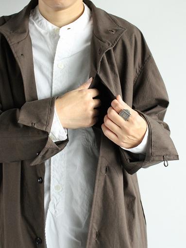 THE HINOKI Stand Up Collar Shirt Dress - Cotton Parachute Cloth_b0139281_19251879.jpg