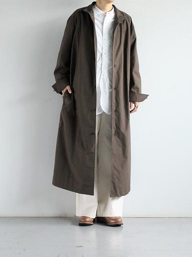 THE HINOKI Stand Up Collar Shirt Dress - Cotton Parachute Cloth_b0139281_19253930.jpg