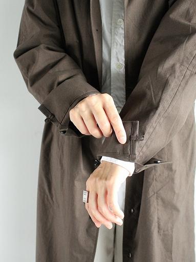 THE HINOKI Stand Up Collar Shirt Dress - Cotton Parachute Cloth_b0139281_1925990.jpg