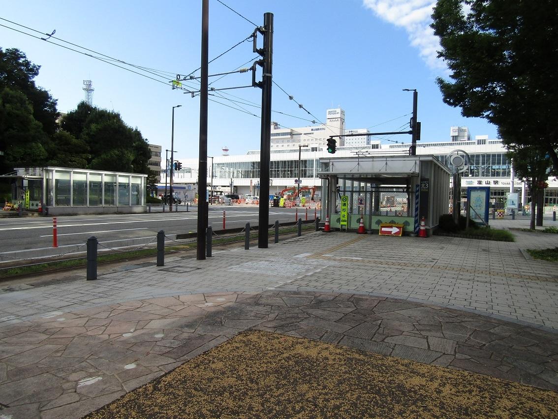 富山駅北口広場整備状況 2020.8_f0281398_20272920.jpg