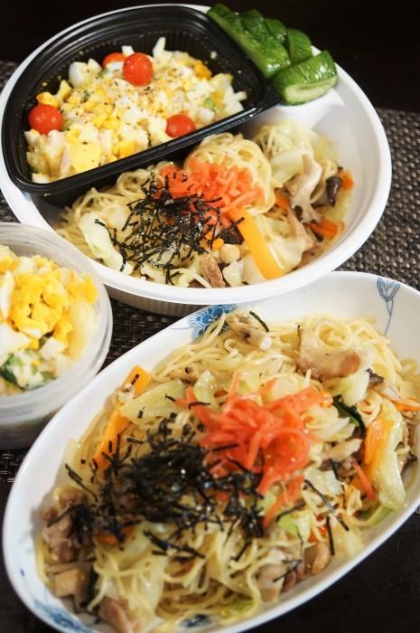 ■簡単5分昼麺【マルちゃんの塩焼きそば 作ってみました^^/ポテトサラダ】_b0033423_18491921.jpg