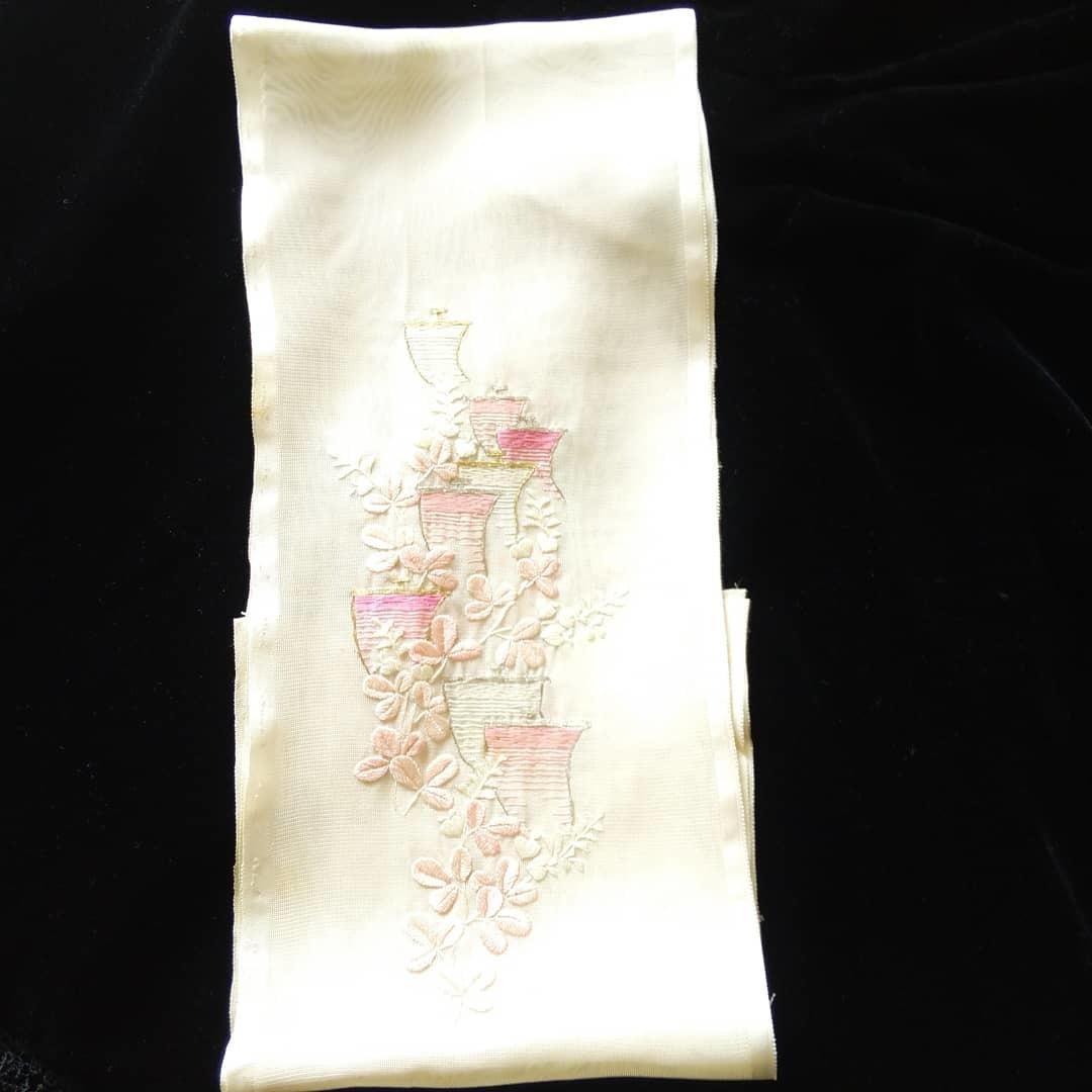 200910 アンティーク紗地刺繍半襟のお手入れ_f0164842_19422622.jpg