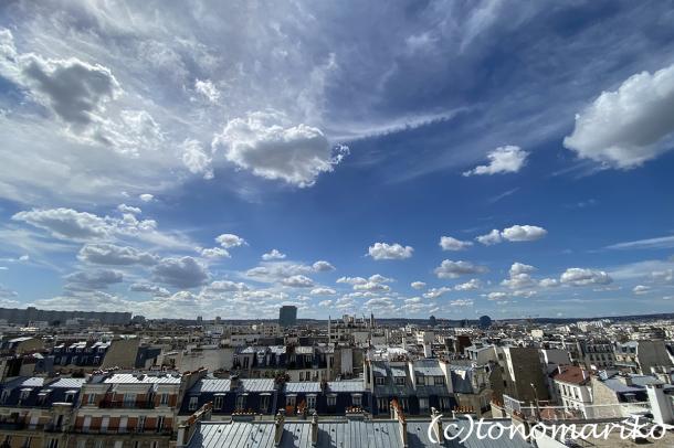 アパートからのパリの空。おまけに給食メニュー_c0024345_18504030.jpg