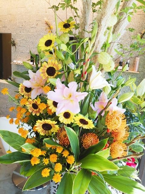 祝開店 スタンド花_e0190648_13480054.jpg