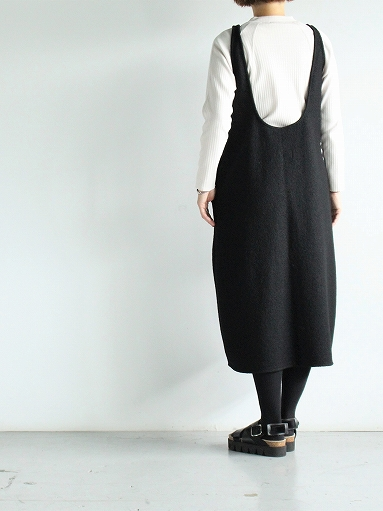 Worker's Nobility Overall Skirt - Pichi / Black 100% Wool_b0139281_17103148.jpg