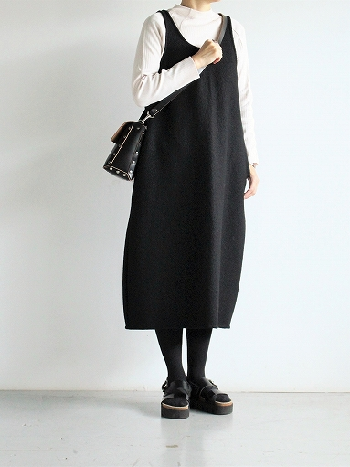 Worker's Nobility Overall Skirt - Pichi / Black 100% Wool_b0139281_1710508.jpg
