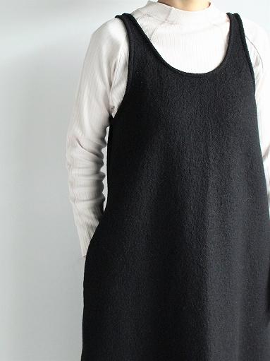 Worker's Nobility Overall Skirt - Pichi / Black 100% Wool_b0139281_1794629.jpg