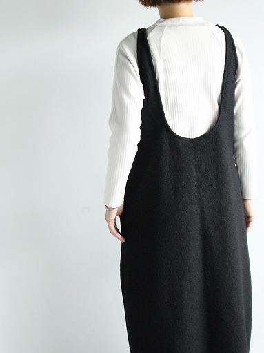 Worker's Nobility Overall Skirt - Pichi / Black 100% Wool_b0139281_1795373.jpg