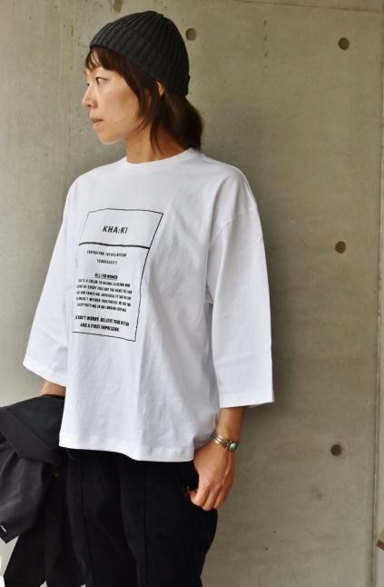 KHA:KI  7分 PRINT TEE 着丈カスタム★_d0152280_19451080.jpg