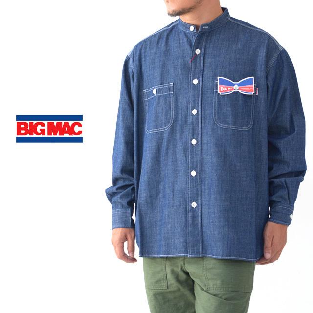BIG MAC [ビッグ マック] DUNGAREE STAND SHIRTS [BMC-020] ダンガリー スタンド シャツ・長袖シャツ・MEN\'S _f0051306_17382560.jpg