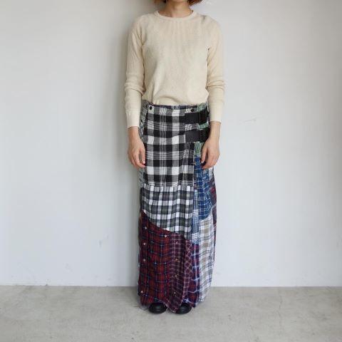 Rebuild by Needles : Flannel shirt→Wrap skirt_a0234452_16092061.jpg