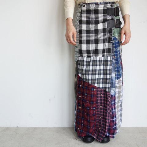 Rebuild by Needles : Flannel shirt→Wrap skirt_a0234452_16092536.jpg