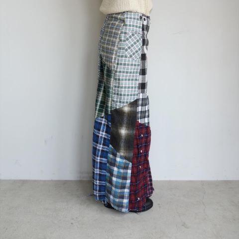 Rebuild by Needles : Flannel shirt→Wrap skirt_a0234452_16092886.jpg