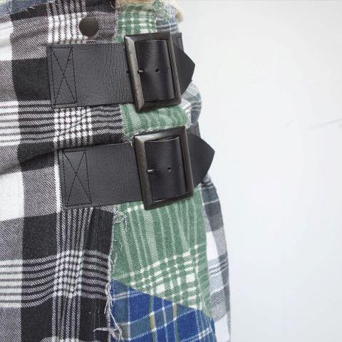 Rebuild by Needles : Flannel shirt→Wrap skirt_a0234452_16093543.jpg
