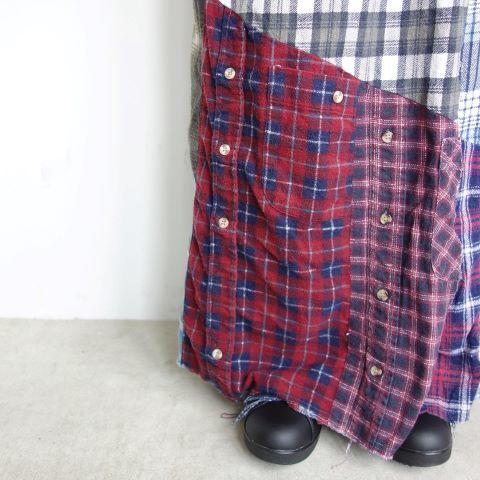 Rebuild by Needles : Flannel shirt→Wrap skirt_a0234452_16093899.jpg
