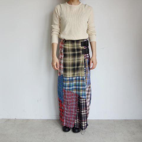 Rebuild by Needles : Flannel shirt→Wrap skirt_a0234452_16094180.jpg