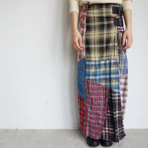 Rebuild by Needles : Flannel shirt→Wrap skirt_a0234452_16094502.jpg