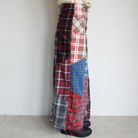 Rebuild by Needles : Flannel shirt→Wrap skirt_a0234452_16100393.jpg
